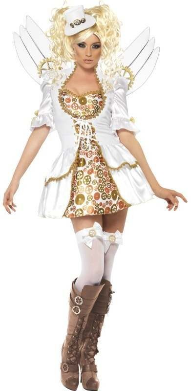 Fever Steam Punk Victorian Clockwork Angel Fancy Dress Costume