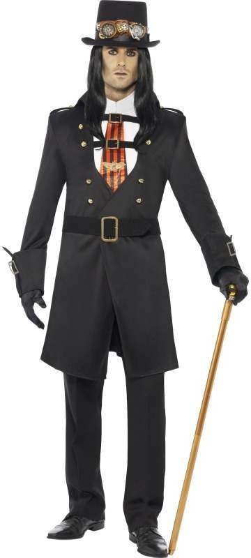 Steam Punk Victorian Vamp Male Fancy Dress Costume