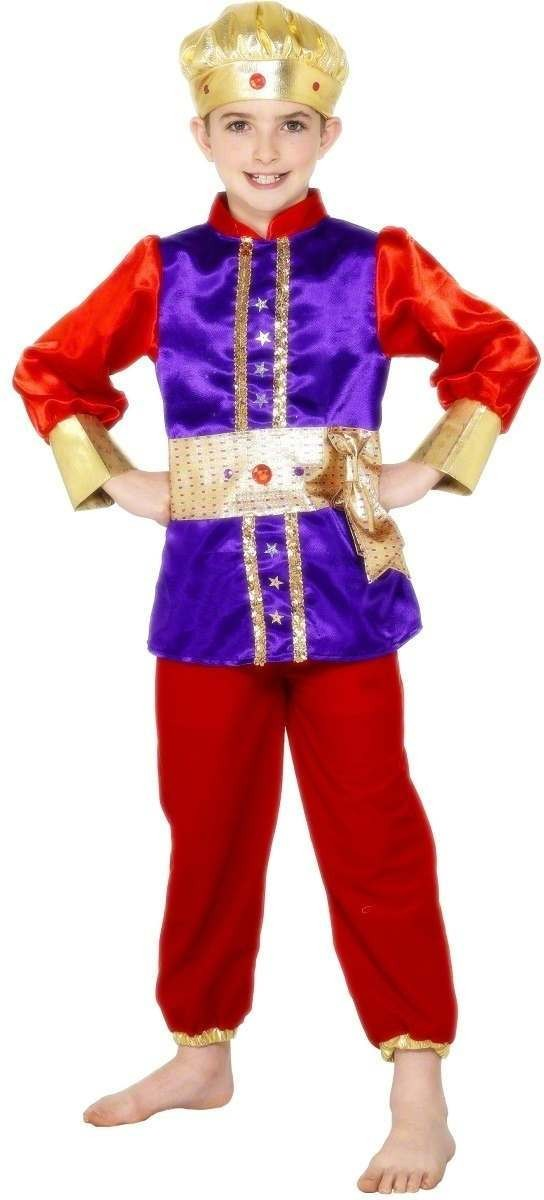 King Balthasar Nativity Fancy Dress Costume Boys (Royalty)
