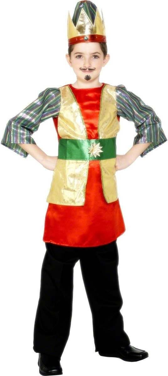 King Melchior Nativity Fancy Dress Costume Boys (Royalty)