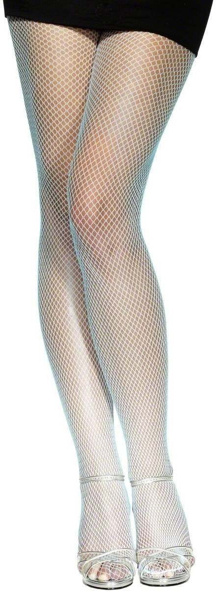 Fishnet Tights Baby Blue - Fancy Dress Ladies