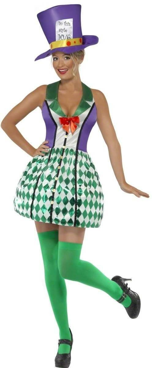 Lady Mad Hatter Fancy Dress Costume Ladies (Fairy Tales)