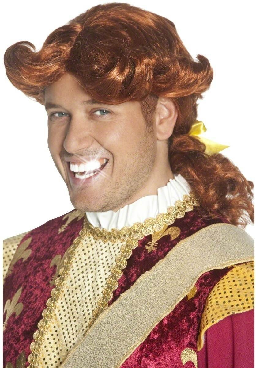 Prince Smarmy Wig - Fancy Dress Mens (Royalty) - Ginger