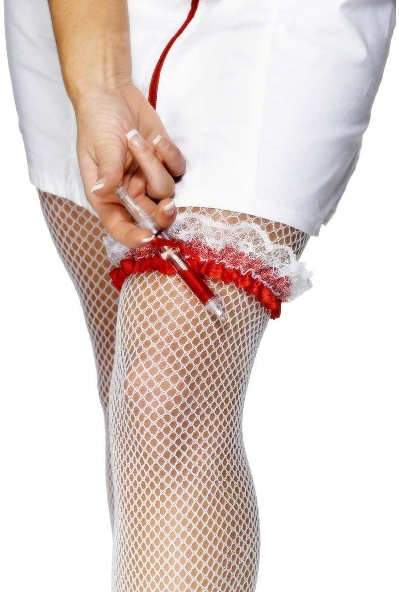 Nurse'S Garter - Fancy Dress Ladies (Doctors/Nurses)