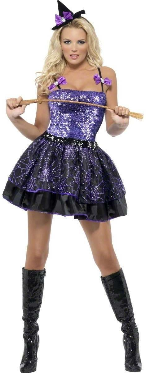 Fever Witch Glimmer Fancy Dress Costume Ladies (Halloween)