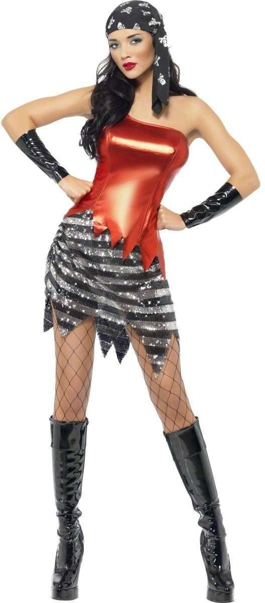 Fever Flashy Pirate Fancy Dress Costume Ladies (Pirates)