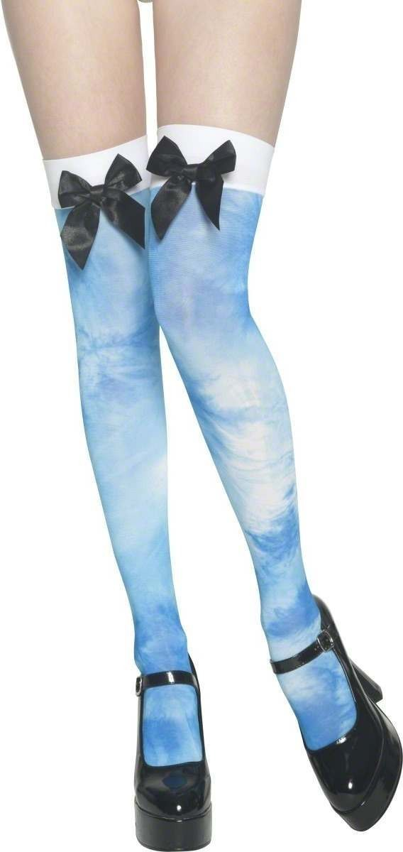 Alice In Lsd Land Thigh High Stockings Fancy Dress