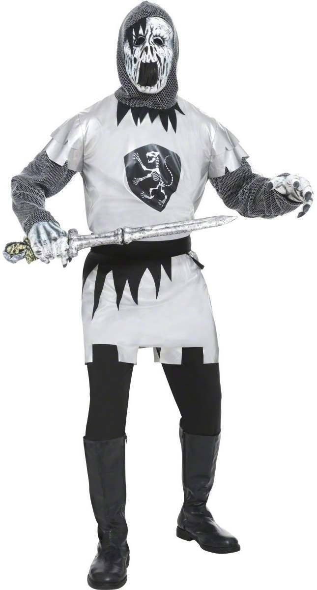 Ghostly Knight Fancy Dress Costume Mens (Halloween)