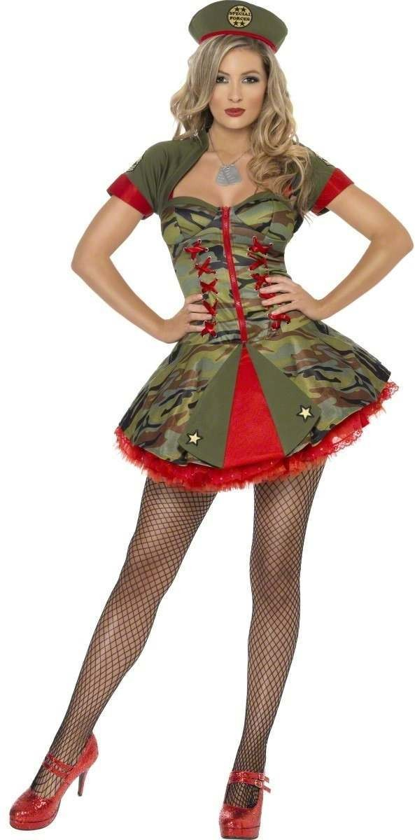Fever Boutique Special Forces Fancy Dress Costume