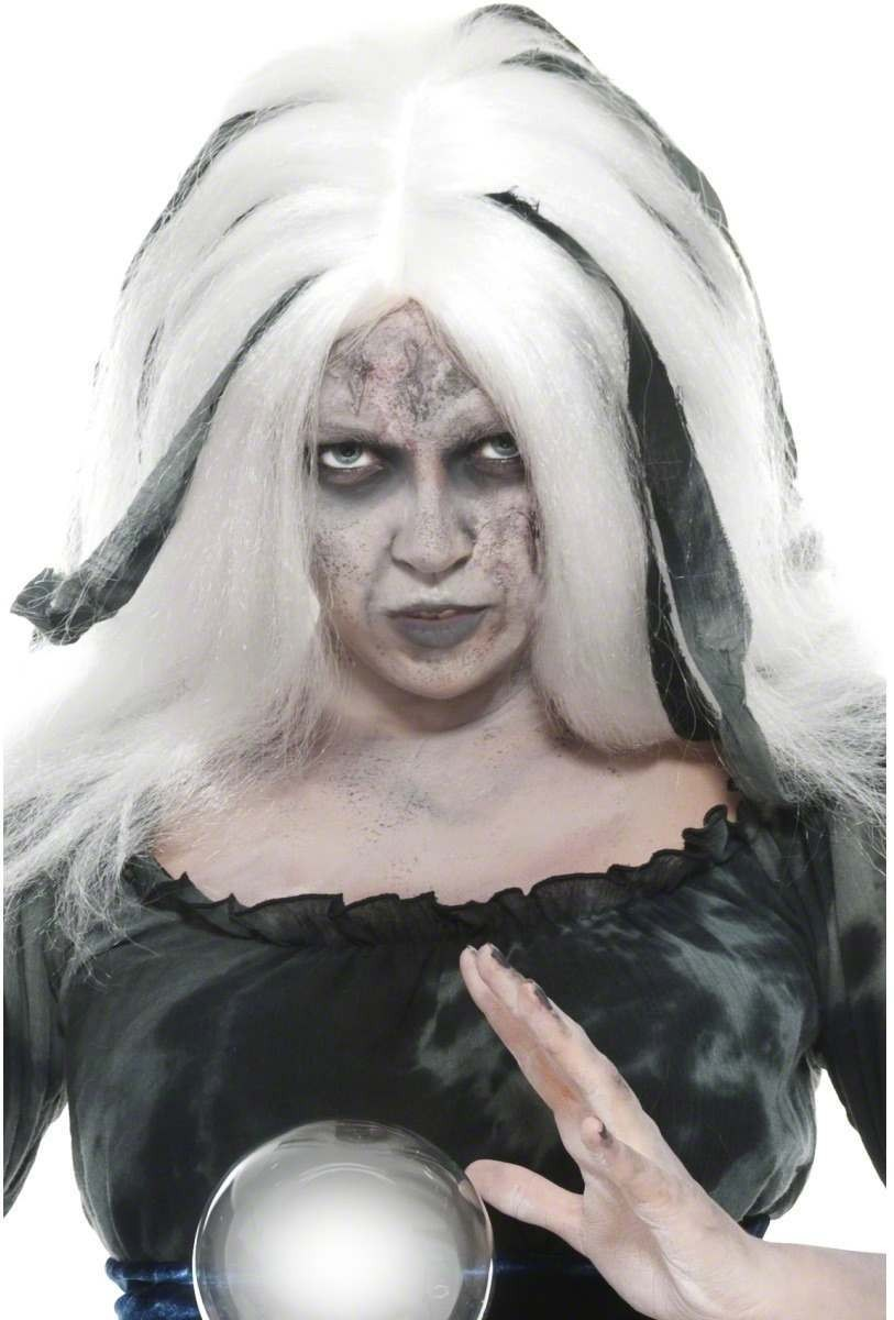 Soothsayer Wig Fancy Dress Mens - Black/White