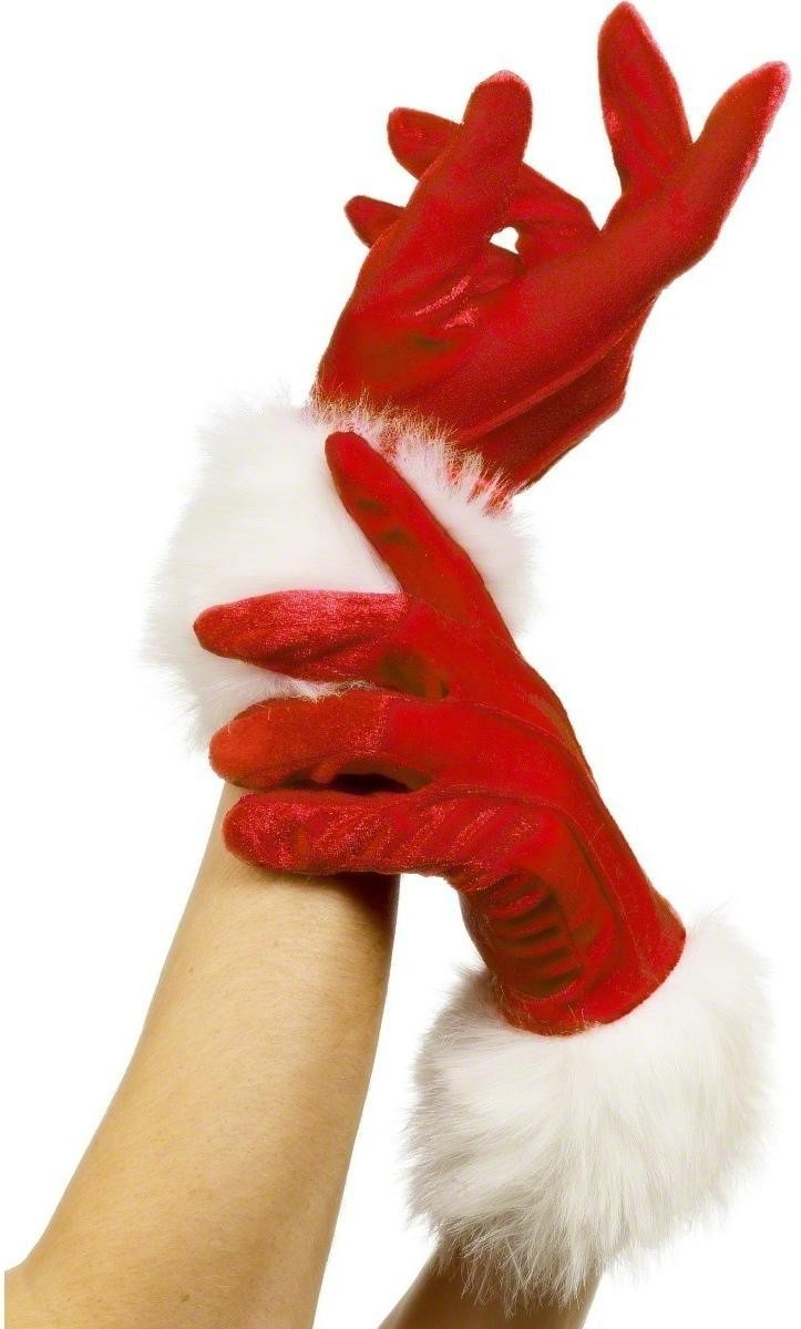 Santa Gloves - Fancy Dress Ladies (Christmas)