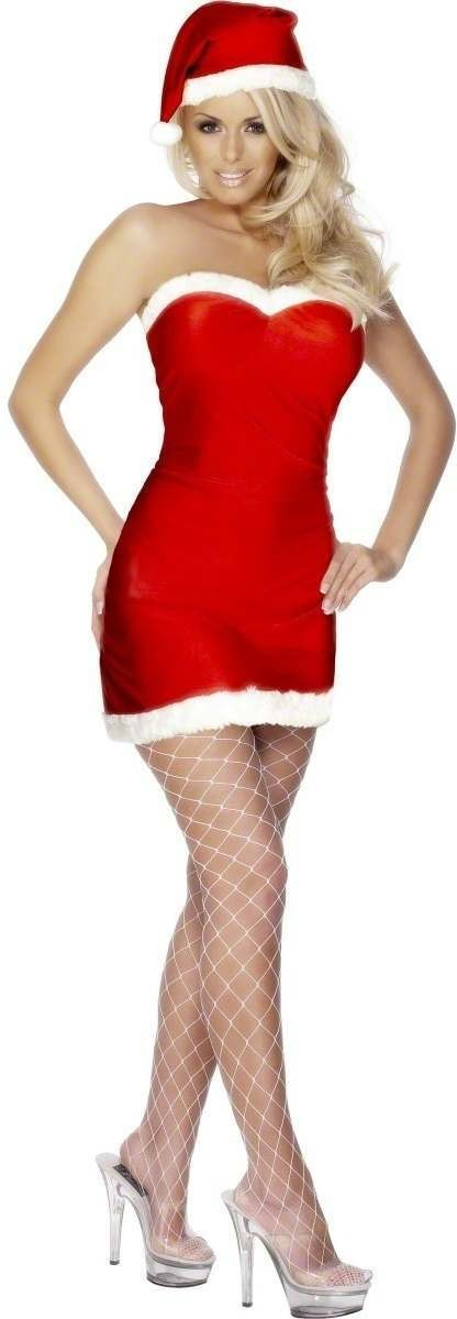 Fever Miss Santa Fancy Dress Costume Size 16-18 L (Sexy)