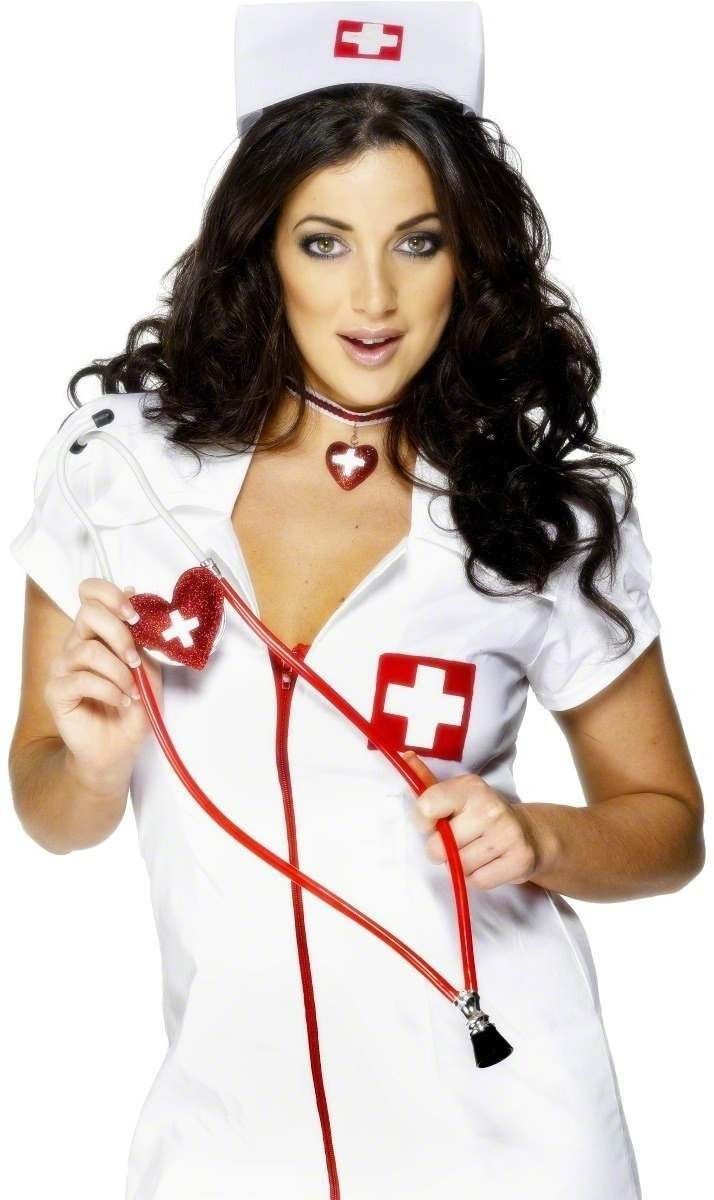 Nurses Heart Shaped Stethoscope - Fancy Dress Ladies (Doctors/Nurses)