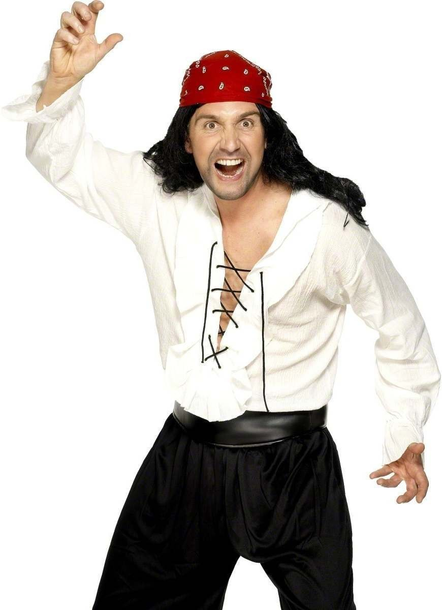Pirate Shirt Fancy Dress Costume Mens Size 38-40 S (Pirates)