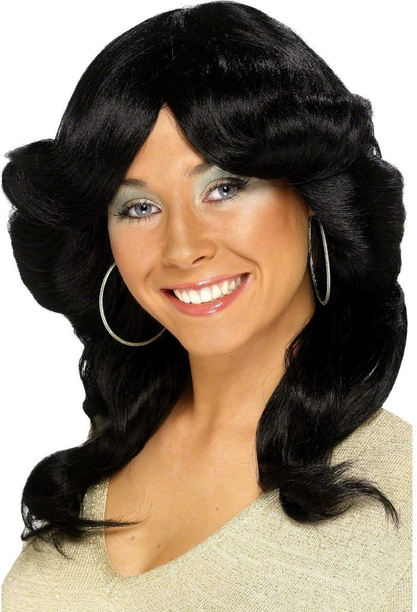 Seventies Flick Wig - Fancy Dress Ladies (1970S) - Black
