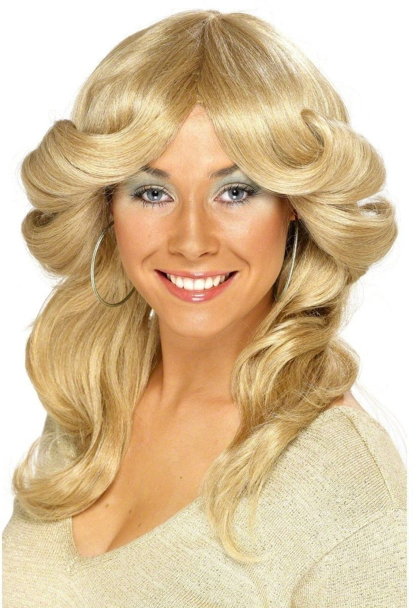 Seventies Flick Wig - Fancy Dress Ladies (1970S) - Blonde