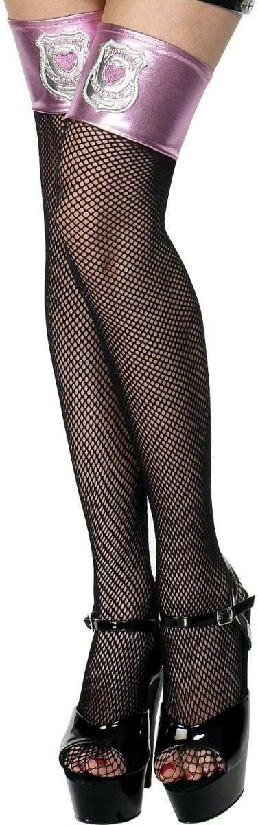 Thigh High Police Stockings - Fancy Dress Ladies (Cops/Robbers)