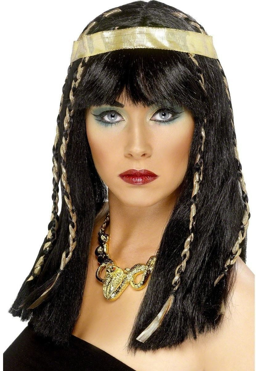 Egyptian Lady Wig - Fancy Dress Ladies (Medieval) - Black