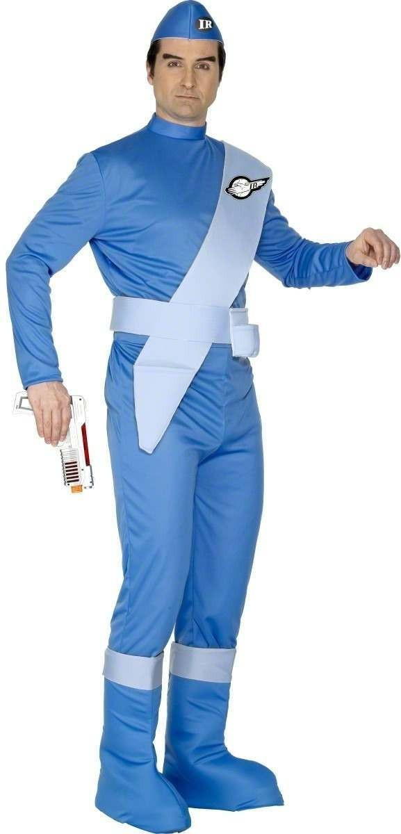 Thunderbirds Scott Fancy Dress Costume Mens (1970S, 1980S, Cartoon, Film)