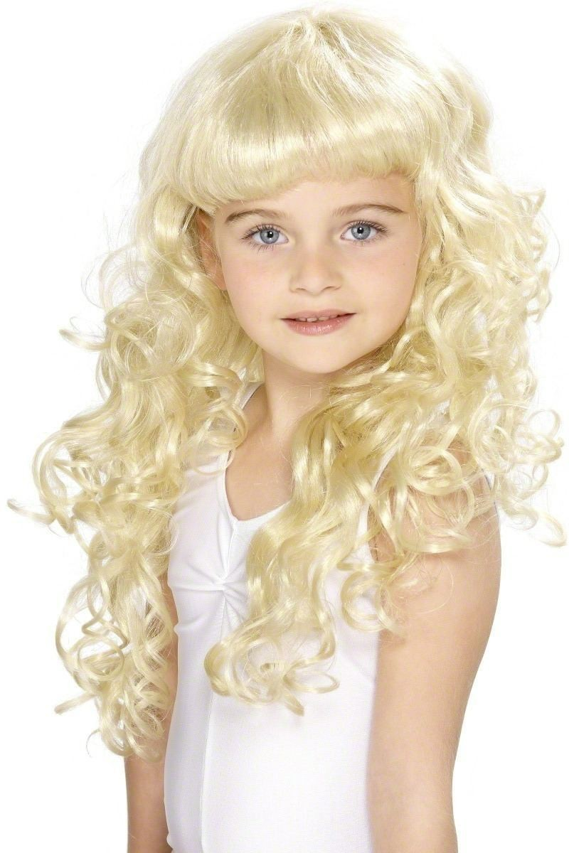 Girl'S Princess Wig - Fancy Dress Girls (Royalty) - Blonde