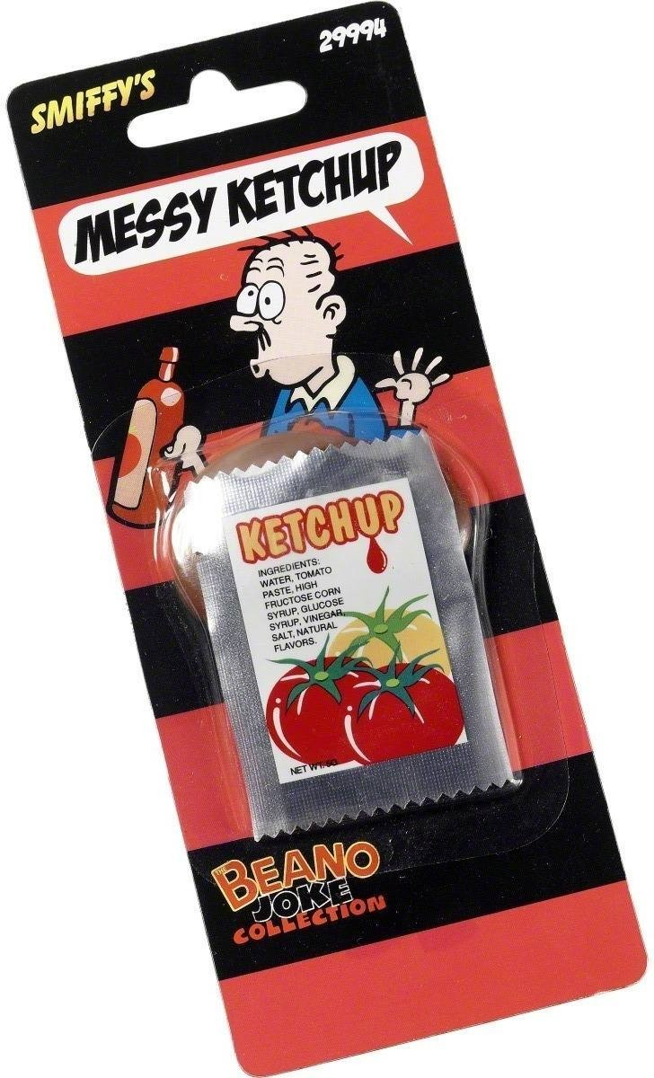 What A Mess! Ketchup In Foil Pack - Fancy Dress (Cartoon)