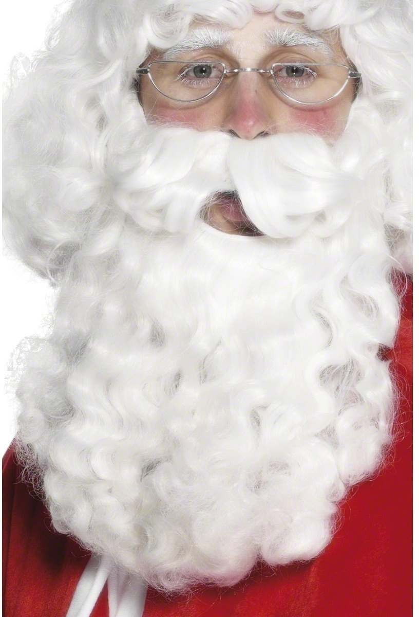 Santa Wig - Fancy Dress Mens (Christmas) - White