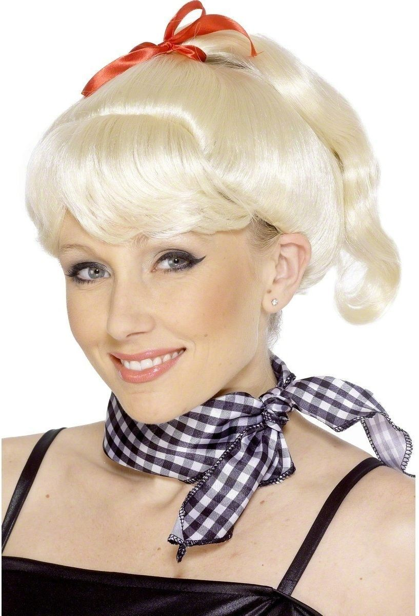 Sandy Wig From Grease - Fancy Dress Ladies (Film) - Blonde