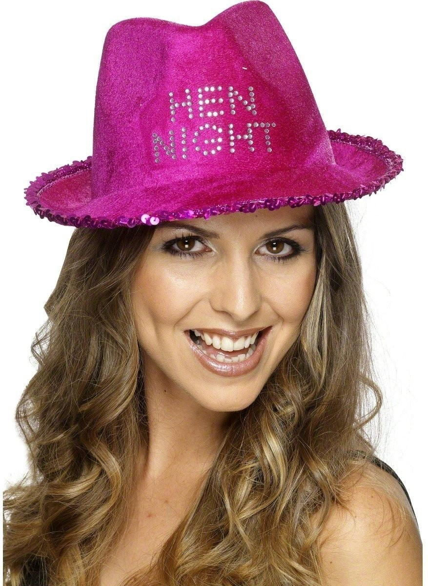 Hen Night Fedora - Fancy Dress Ladies (Hen & Stag)