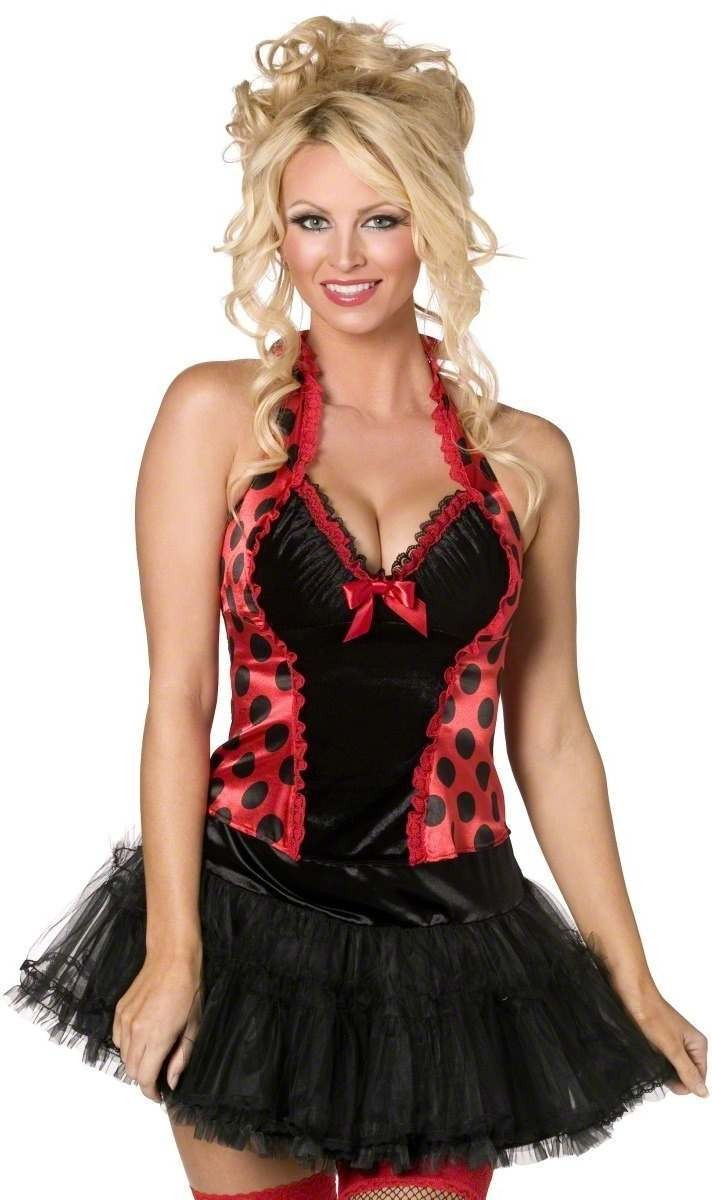 Fever Boutique Ladybug Halter Top Size 8-10 S Ladies