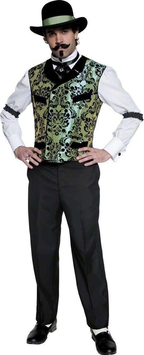 Authentic Western Gambler Costume Mens Size 38-40 S (Cowboys/Indians)