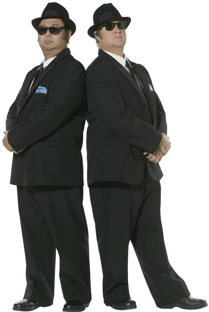 Blues Brothers Fancy Dress Costume Mens (Music)