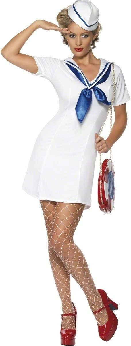 Ship'S Mate Costume-Large Fancy Dress Costume Ladies (Sailor)