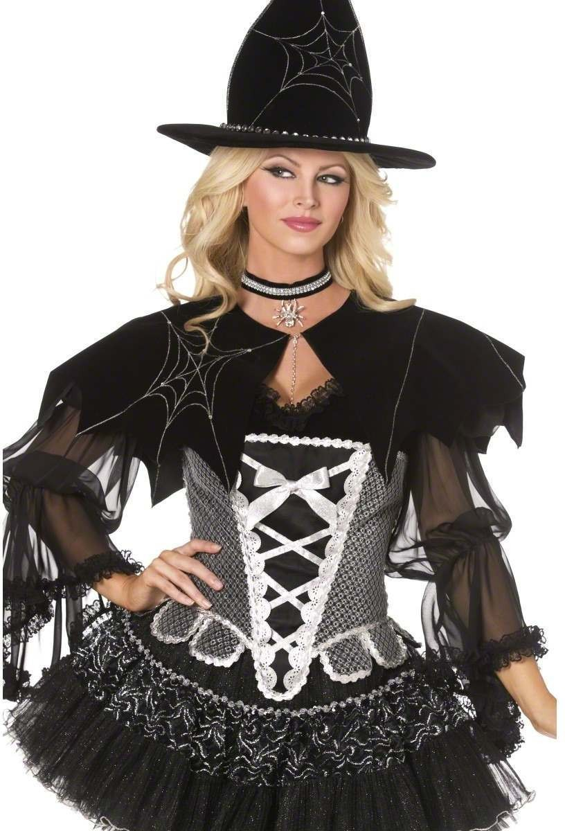 Bijou Boutique Spider Web Cape - Fancy Dress Ladies (Sexy)