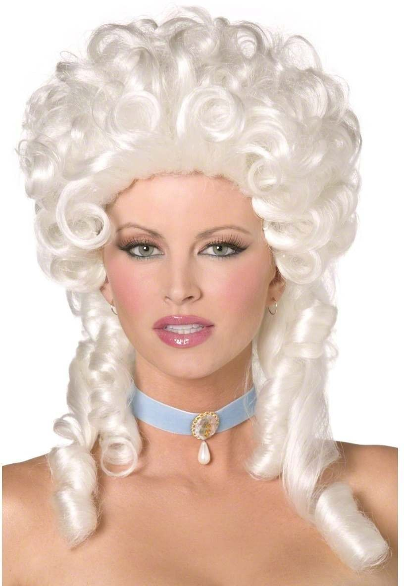 Baroque Wig - Fancy Dress Ladies (Sexy) - White
