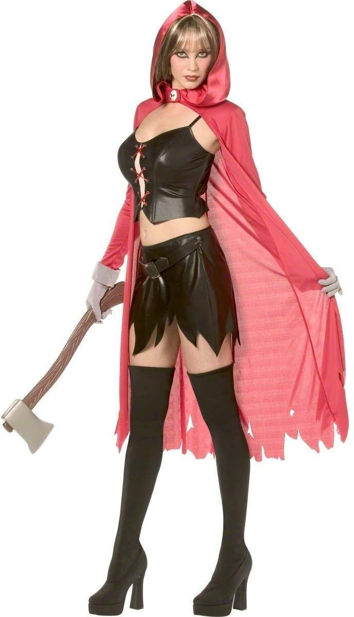 Rebel Toons Ladies Red Riding Hood Costume Costume (Cartoon)