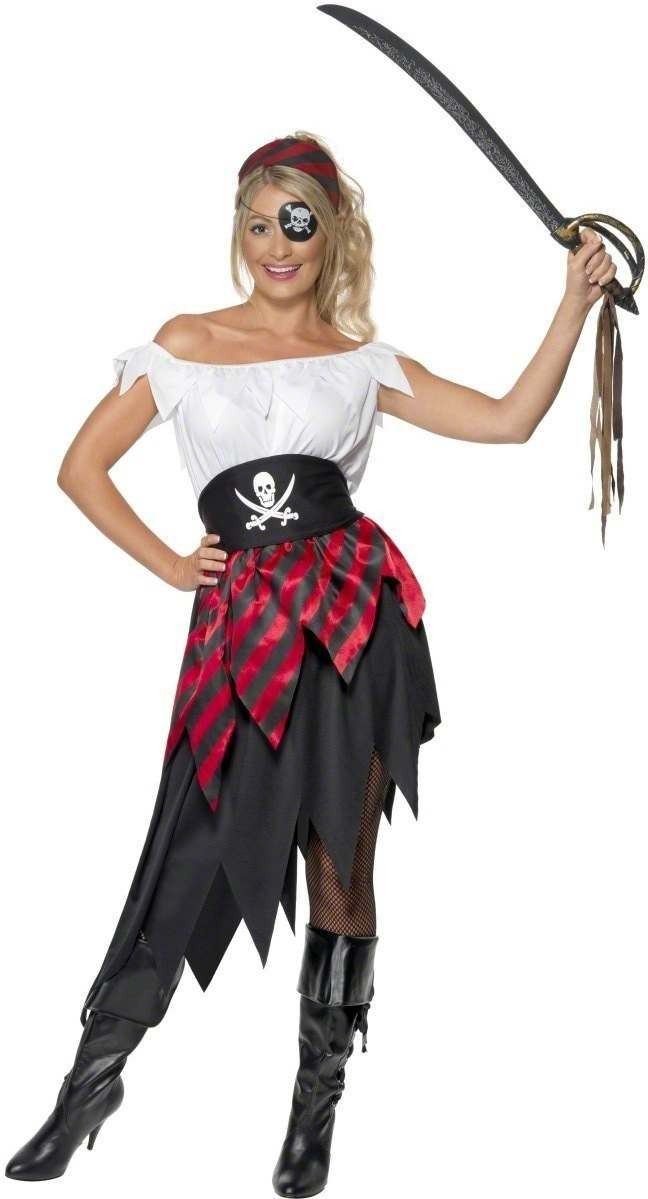 Pirate Wench Fancy Dress Costume Ladies (Pirates)