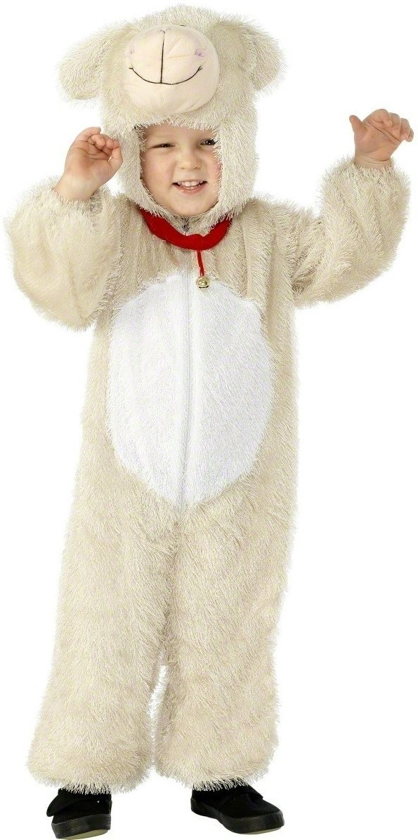 Lamb Costume Age 4-6 Fancy Dress Costume Kids Age 4-6  (Animals)
