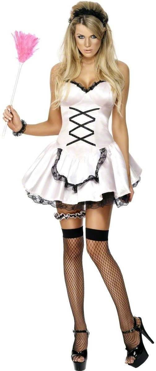 Fever Ooh La La French Maid Fancy Dress Costume Ladies (French , Sexy)