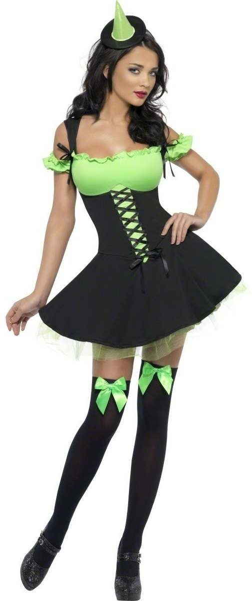 Fever Wicked Witch Fancy Dress Costume Ladies (Halloween)