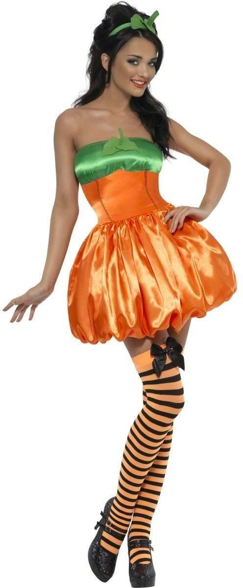 Fever Pumpkin Fancy Dress Costume Ladies (Halloween)