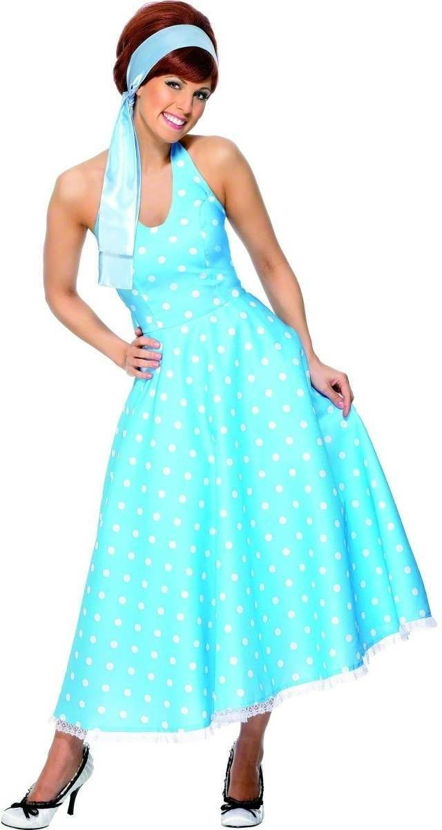 50S Style Polkadot Fancy Dress Costume Ladies (1950S)