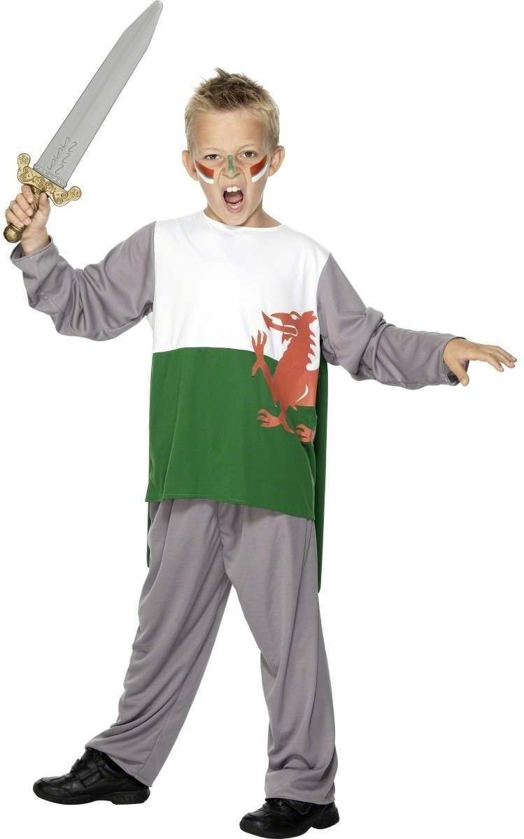 Welsh Warrior Fancy Dress Costume Boys (Cultures)