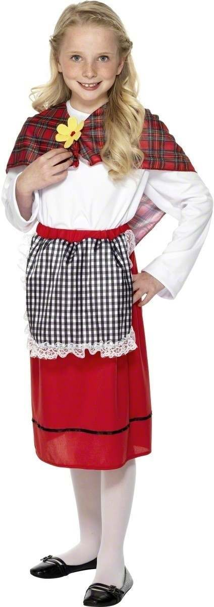 Welsh Girl Fancy Dress Costume Girls (Cultures)