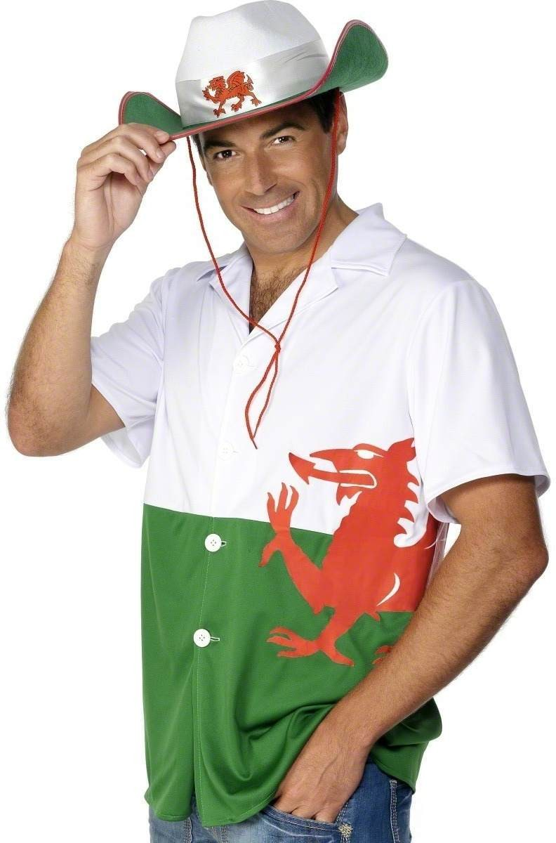 Welsh Shirt - Fancy Dress Mens Size 38-40 S