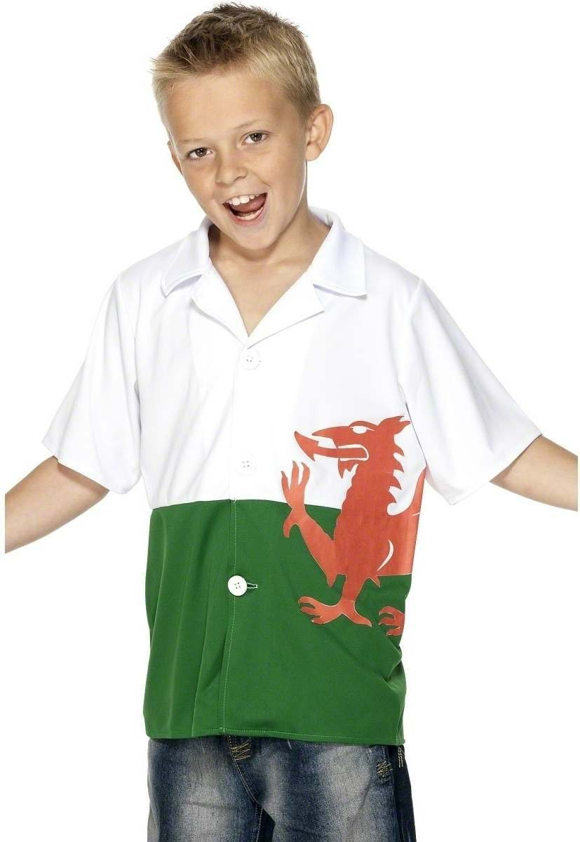 Welsh Shirt - Fancy Dress Age 9-12