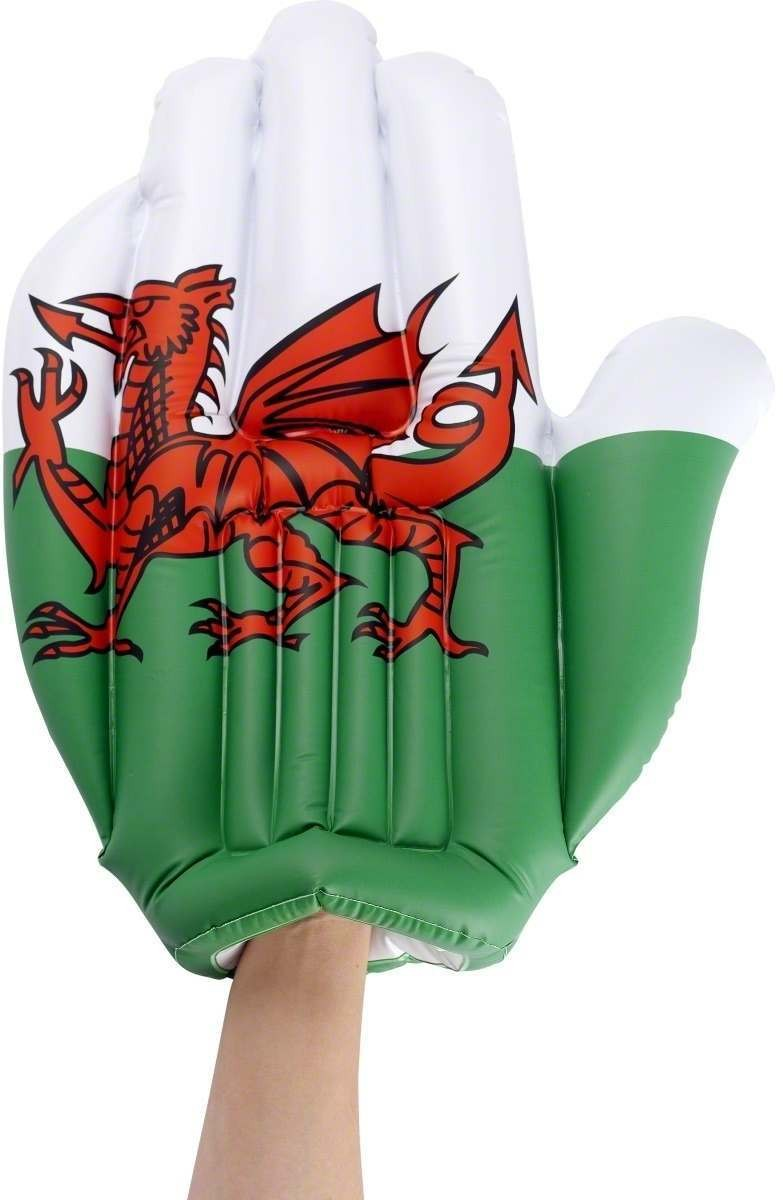 Welsh National Flag Inflatable Hand - Fancy Dress