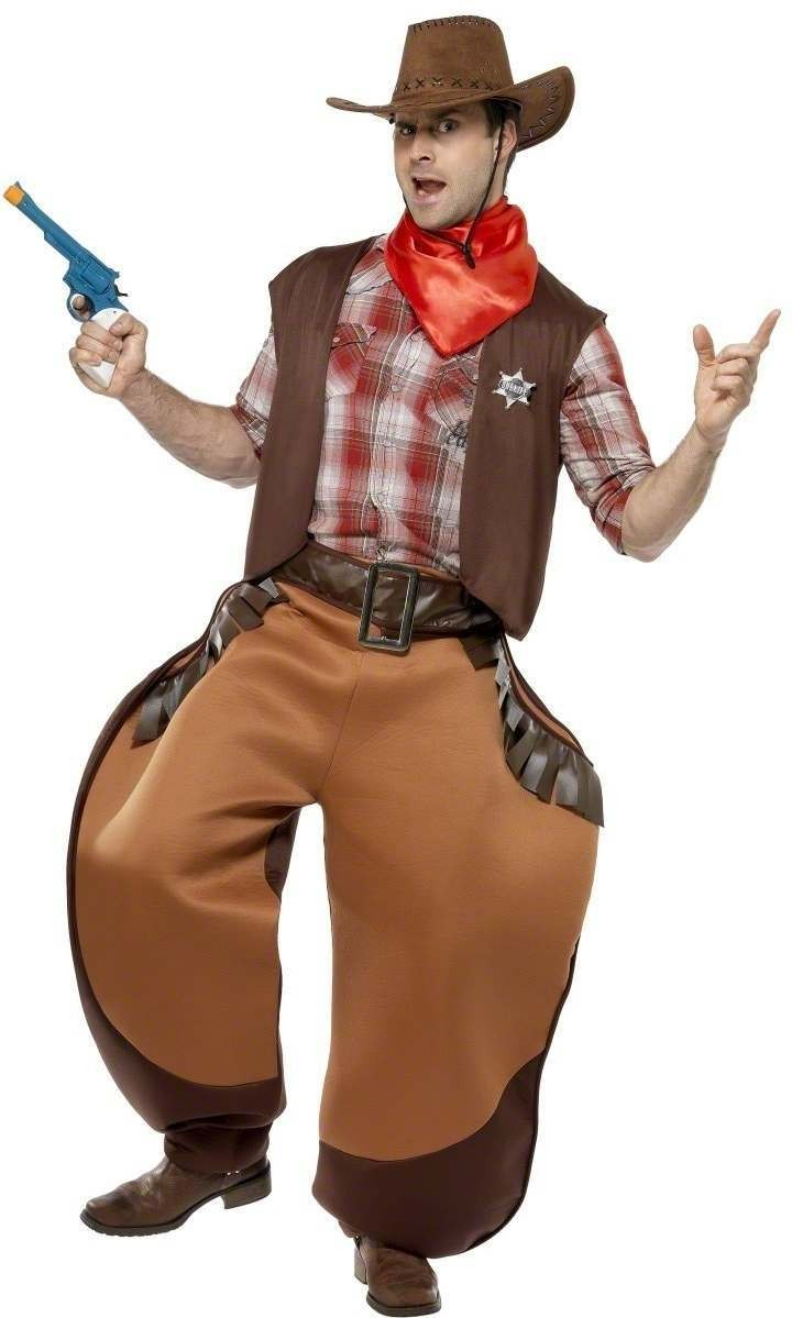 Big Bad John Cowboy Fancy Dress Costume Mens (Cowboys/Native Americans)