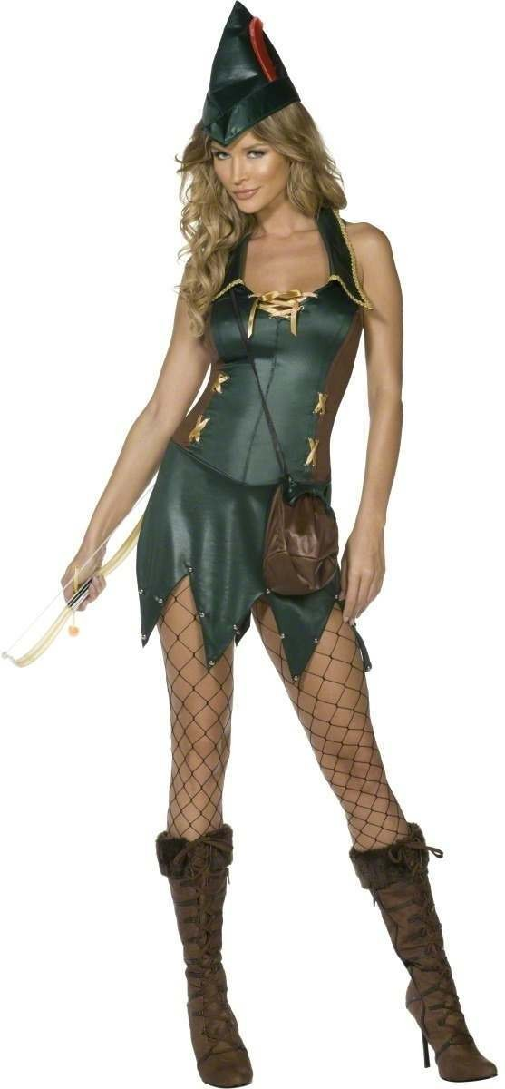 Fever Alluring Archer Fancy Dress Costume Ladies (Fairy Tales , Sexy)