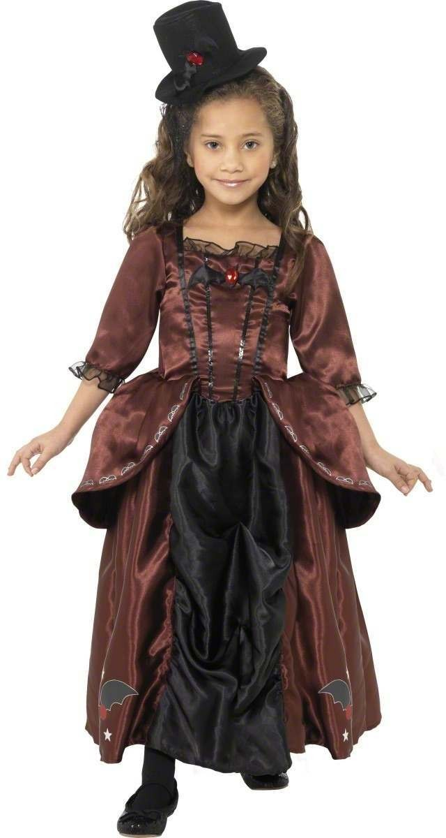 Vampiress Fancy Dress Costume Girls (Halloween)
