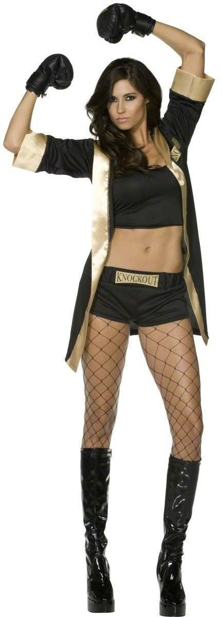 Fever Knockout Costume-Large Fancy Dress Costume Ladies (Sexy)